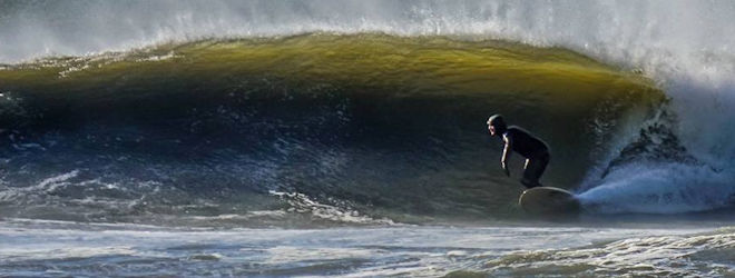 Surfing Assateague Island, VA